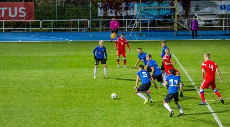 FOTOD | Eesti U21 jalgpallikoondis kaotas EM-valikmängus Venemaale 0:5