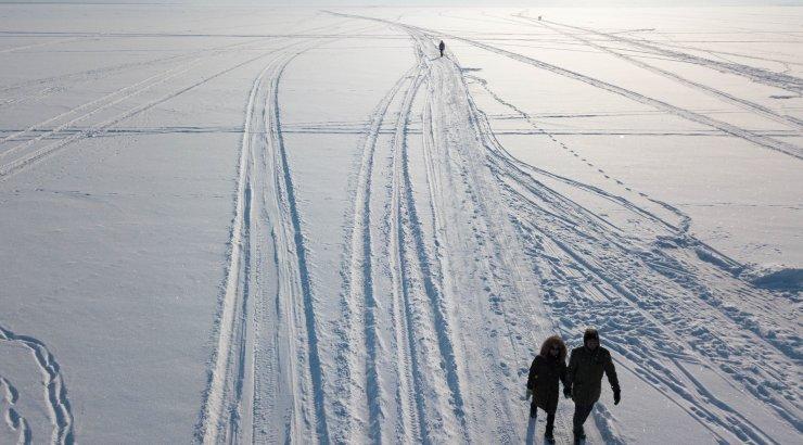 Ледовую разведку провели на Чудском озере