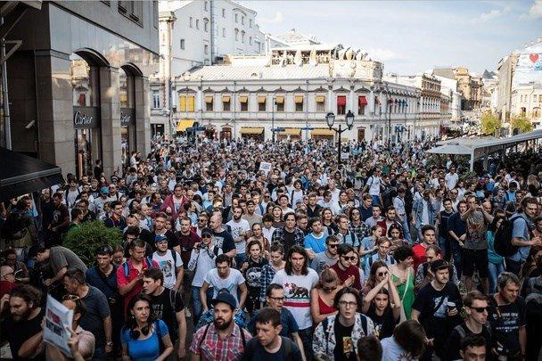 Девушка подала объявление наполицейского, ударившего еенаакции в российской столице