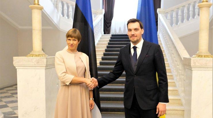 FOTOD | President Kersti Kaljulaid kohtus Ukraina peaminister Oleksiy Honcharukiga
