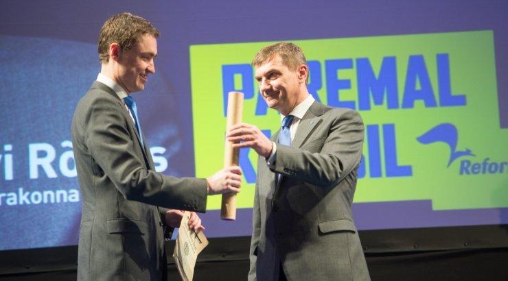 Reformierakonna esinumbrid europarlamendi valimistel on Ansip ja Rõivas