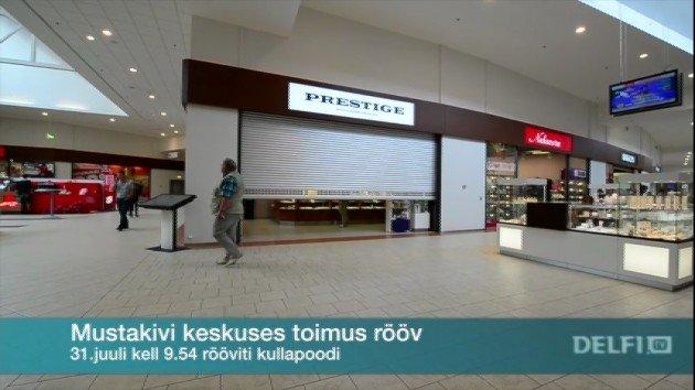 faf9a7569f7 Mustakivi keskuses rööviti kullapoodi - Delfi TV