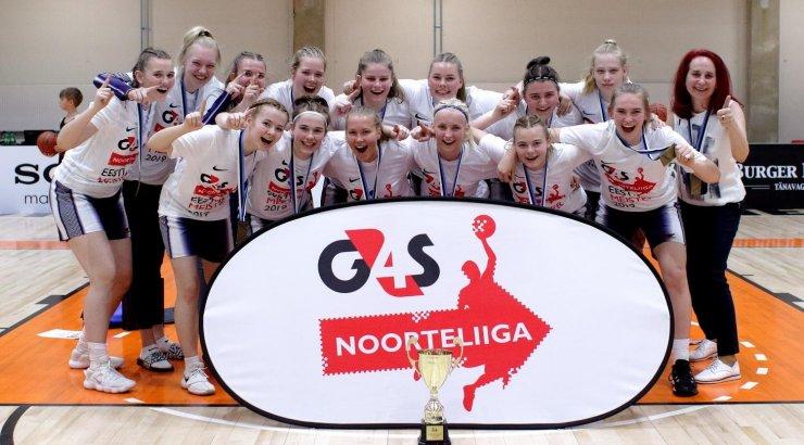 G4S Noorteliiga neidude U18 vanuseklassi meistriks krooniti Tartu Kalev