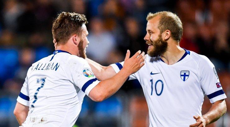 Гол форварда БАТЭ помог сборной Финляндии впервые пробиться в финальный турнир чемпионата Европы