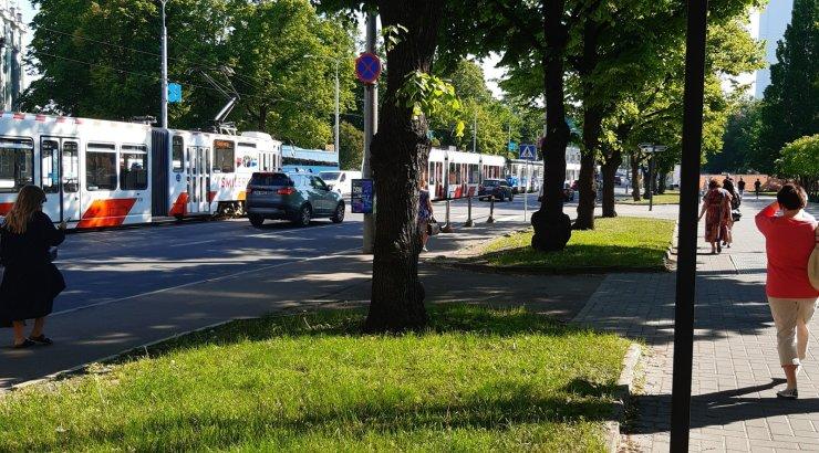 Tallinnas on Viru ringil trammiliiklus häiritud