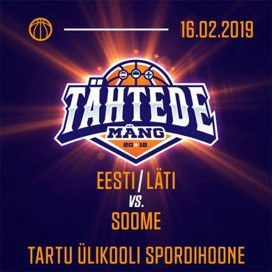 Tähtede Mäng 2019 Eesti-Läti ühiliiga vs Soome Korisliiga