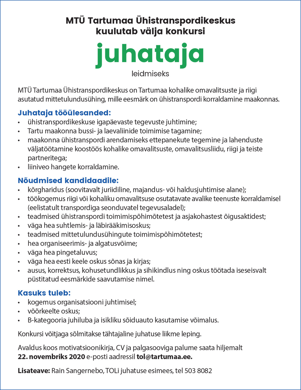 JUHATAJA