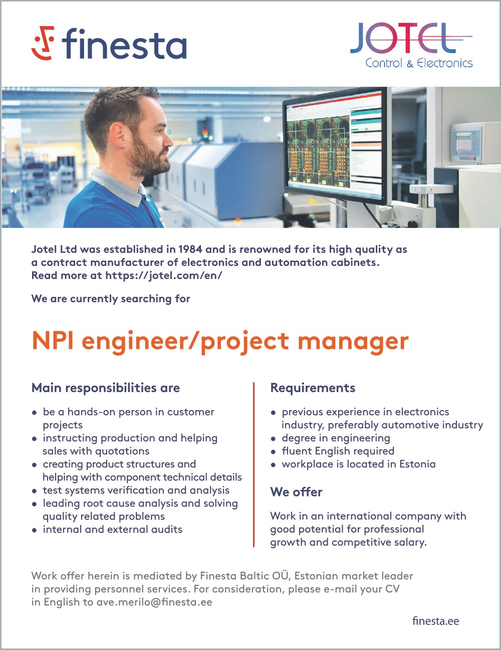 NPI Engineer / Project manager