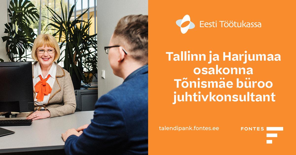 TALLINN JA HARJUMAA OSAKONNA TÕNISMÄE BÜROO JUHTIVKONSULTANT