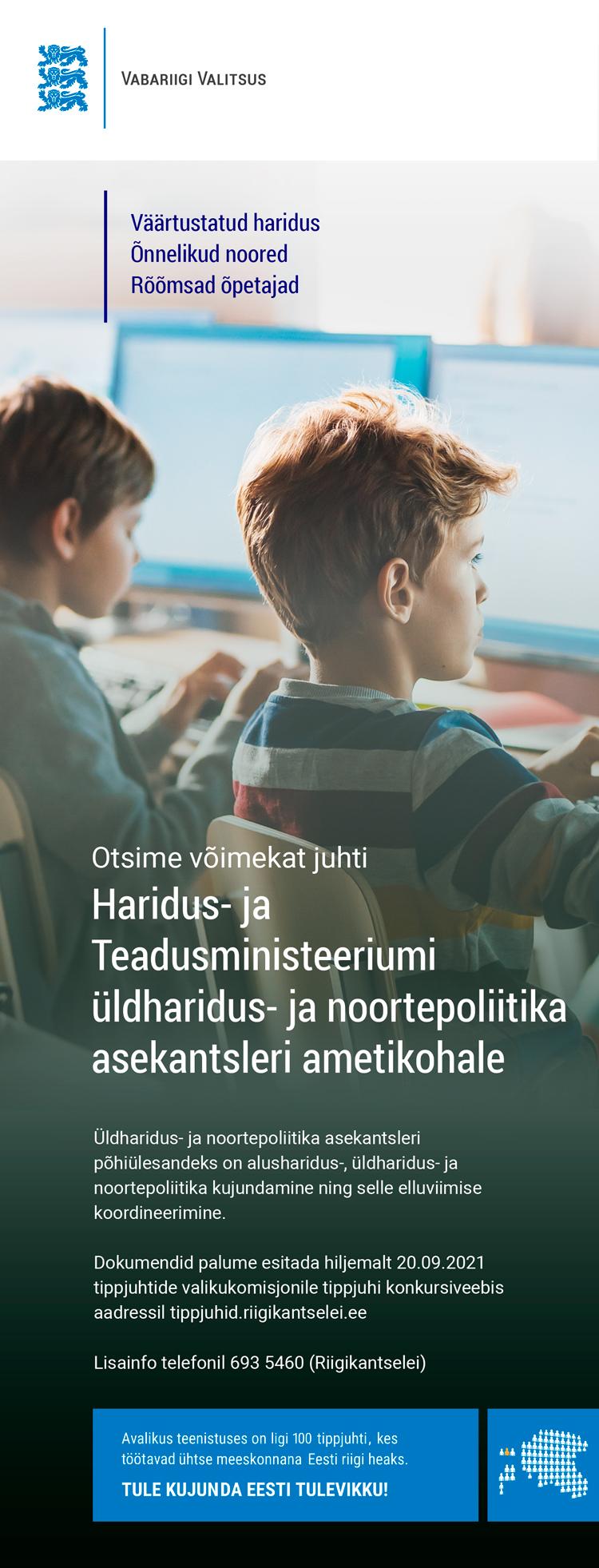 ÜLDHARIDUS- JA NOORTEPOLIITIKA ASEKANTSLER