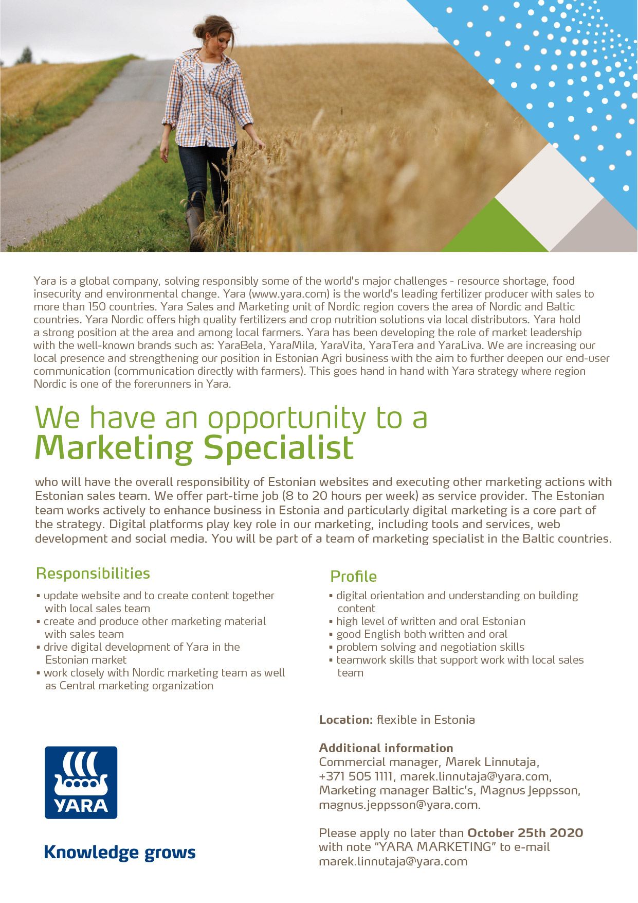MARKETING SPECIALIST