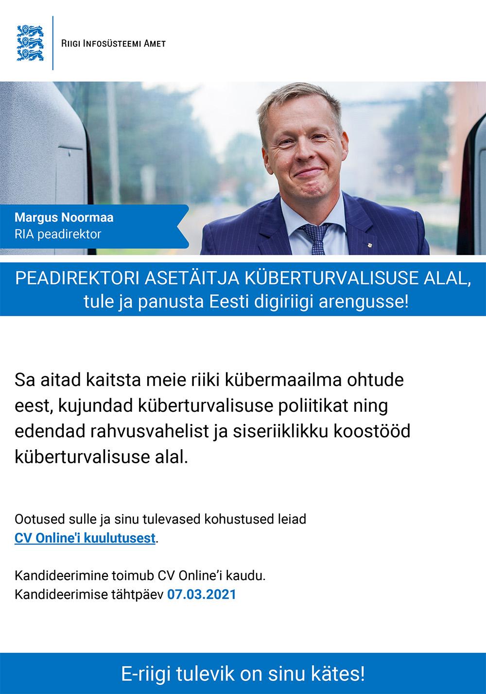PEADIREKTORI ASETÄITJA KÜBERTURVALISUSE ALAL