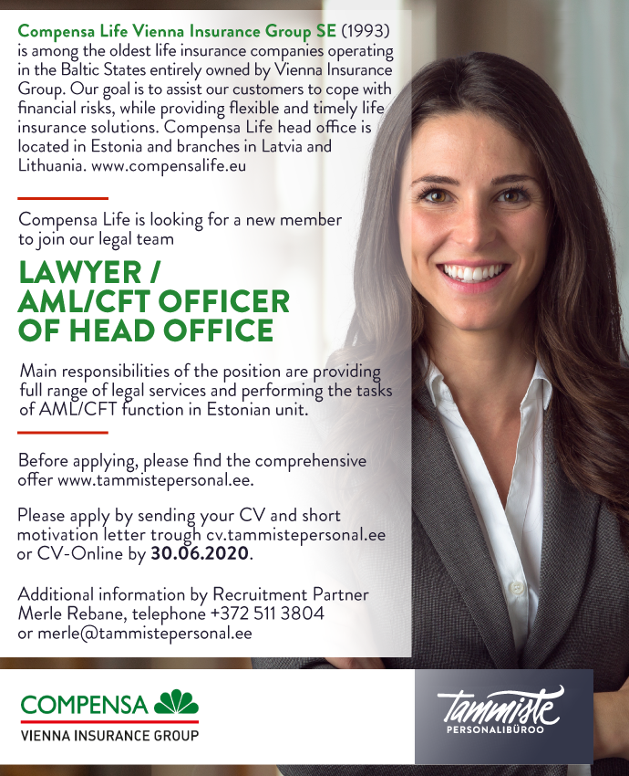 LAWYER/ AML/ CFT OFFICER OF HEAD OFFICE