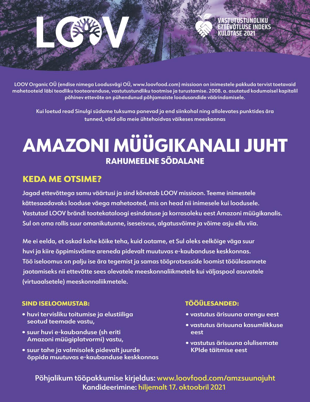 AMAZONI MÜÜGIKANALI JUHT