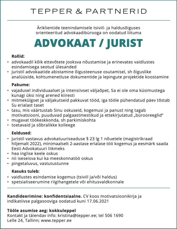 ADVOKAAT / JURIST