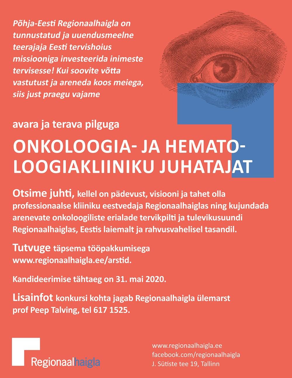 Onkoloogia- ja hematoloogiakliiniku juhataja