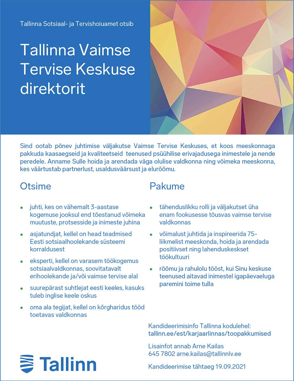 TALLINNA VAIMSE TERVISE KESKUSE DIREKTOR