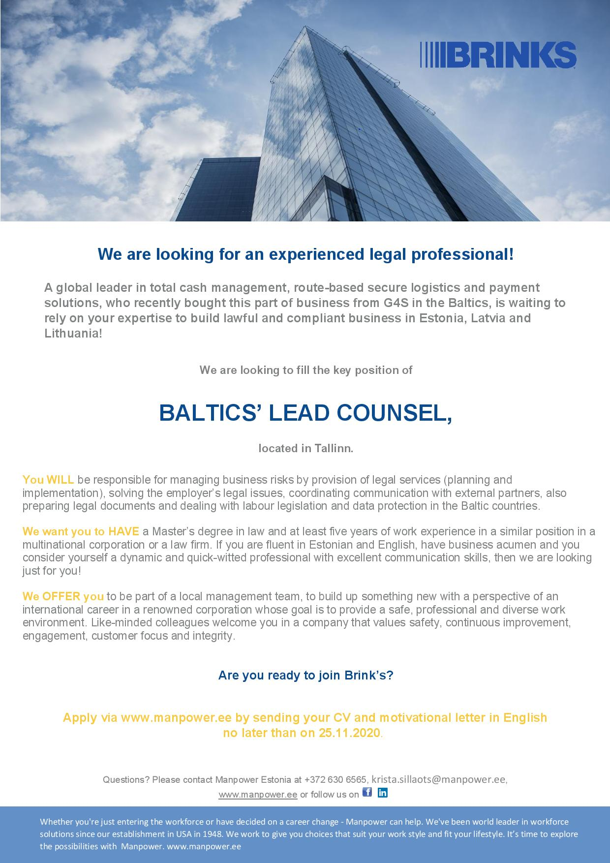 BALTIC`S LEAD COUNSEL