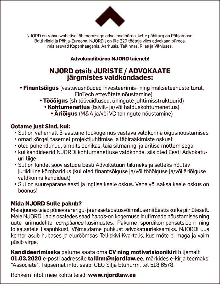 JURISTID / ADVOKAADID