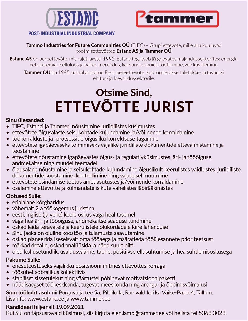 ETTEVÕTTE JURIST