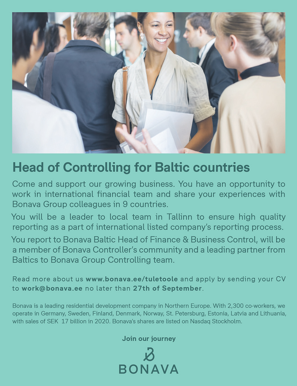 HEAD OF CONTROLLING FOR BALTIC COUNTRIES