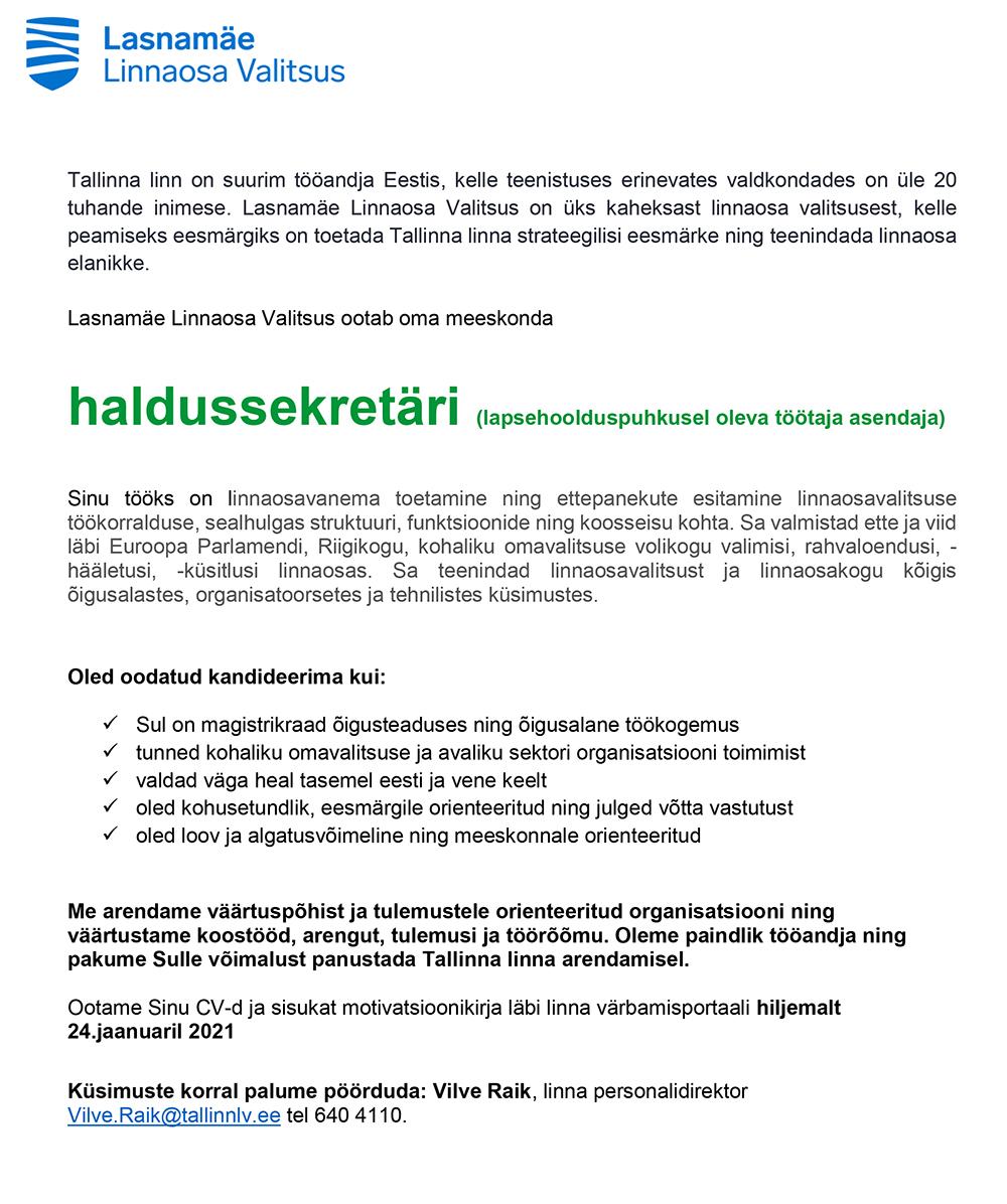 HALDUSSEKRETÄR