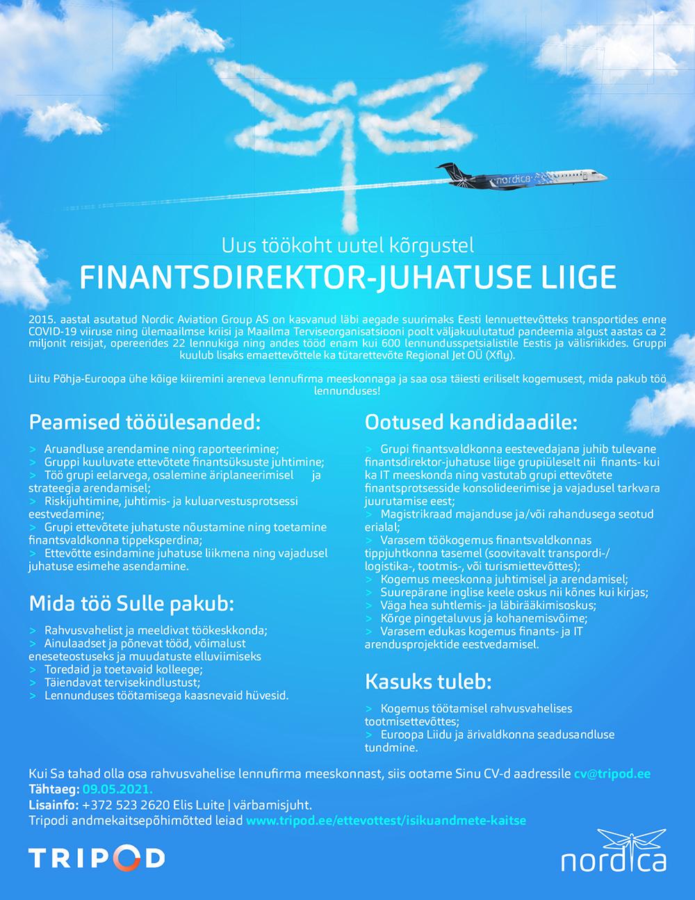 FINANTSDIREKTOR - JUHATUSE LIIGE