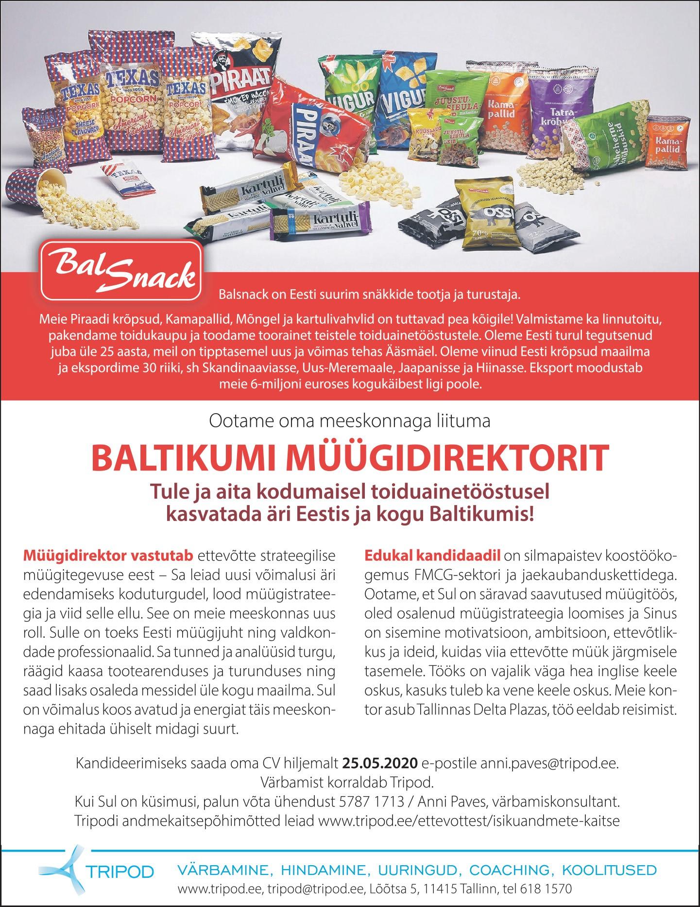 Baltikumi müügidirektor