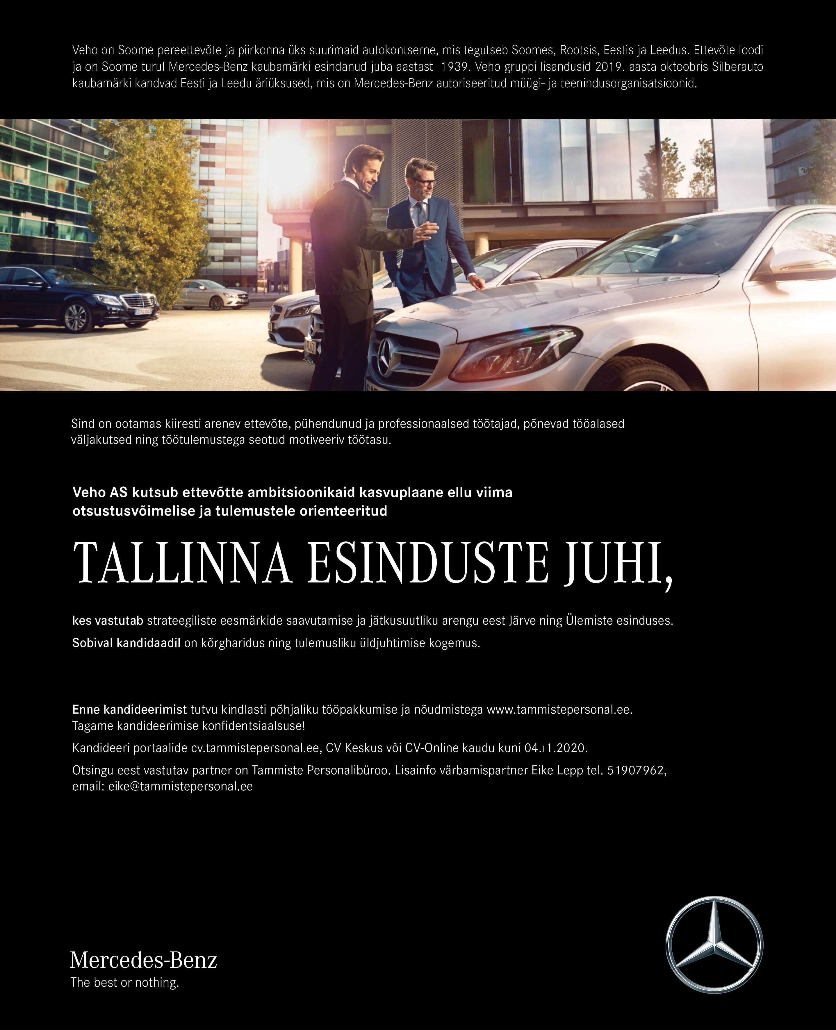 Tallinna esinduste juht