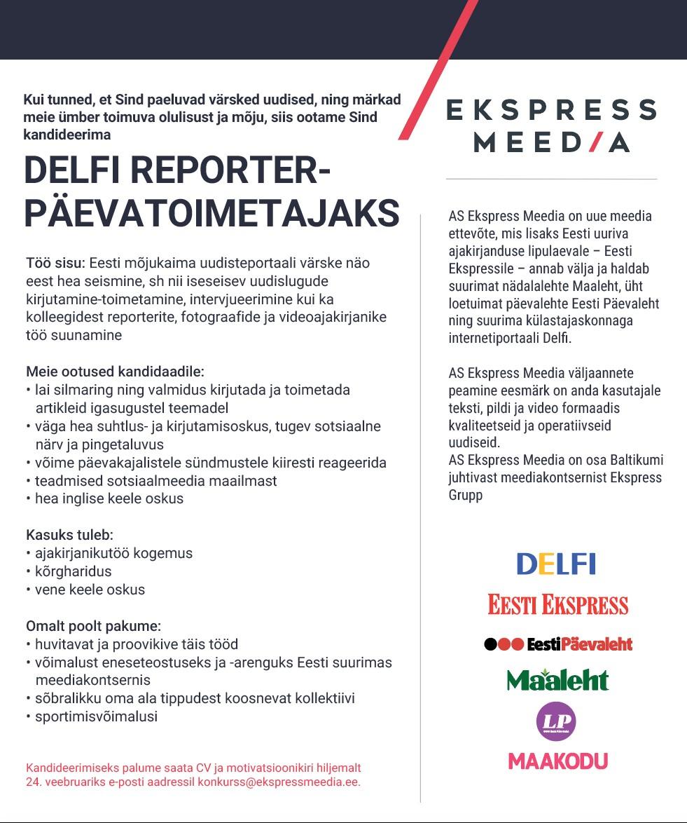 Delfi reporter-päevatoimetaja